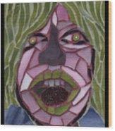 Kiwi - Fantasy Face No. 10 Wood Print