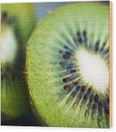 Kiwi Fruit Halves Wood Print by Ray Laskowitz - Printscapes