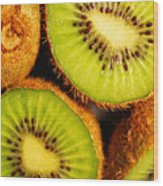 Kiwi Fruit Wood Print by Nancy Mueller
