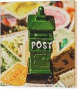 Kiwi Postage Scene Wood Print