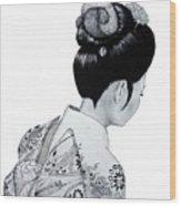Kiyo Wood Print by Lorraine Foster