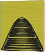Kk100 Shenzhen Skyscraper Art Yellow Wood Print
