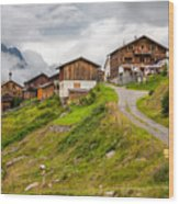 Kleblealm Wood Print