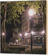 Kleman Plaza Wood Print
