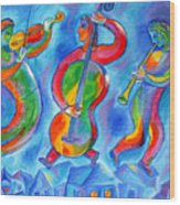 Klezmer On The Roof Wood Print