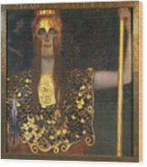 Klimt - Pallas Athena 1898 Wood Print