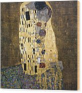 Klimt: The Kiss, 1907-08 Wood Print by Granger