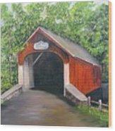 Knechts Covered Bridge Wood Print