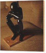 Kneeling Man Wood Print
