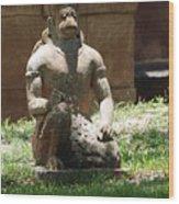 Kneeling Monkey Wood Print