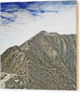 Knife Edge On Mount Katahdin Baxter State Park Maine Wood Print by Brendan Reals