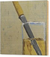 Knife In Glass - After Diebenkorn Wood Print