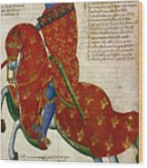 Knight, 14th Century Wood Print