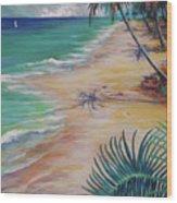 Knight Beach Wood Print
