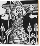 Knight Of Arthur, Preparing To Go Into Battle Wood Print