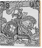 Knights: English, 1527 Wood Print