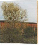 Knights Ferry Wooden Bridge - California Wood Print