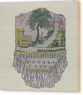 Knit Beaded Bag Wood Print