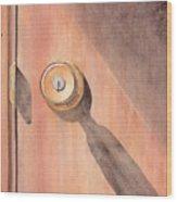 Knob And Shadow Wood Print