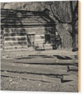 Knob Creek Cabin Wood Print