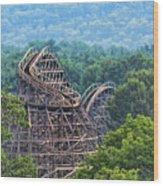 Knobels Wooden Roller Coaster  Wood Print
