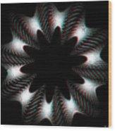 Knotplot 10 - Use Red-cyan 3d Glasses Wood Print