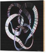Knotplot 2 - Use Red-cyan 3d Glasses Wood Print
