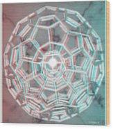 Knotplot 3 - Use Red-cyan 3d Glasses Wood Print