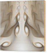 Knots On Wood Wood Print