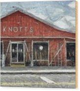 Knott's Hardware Wood Print