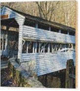 Knox Covered Bridge Wood Print