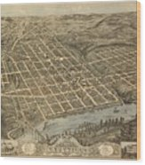 Knoxville Tennessee 1871 Wood Print