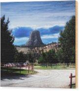Koa Devils Tower Wyoming Wood Print