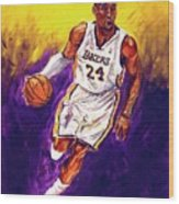 Kobe  Wood Print by Brian Child