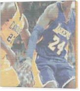 Kobe Bryant Lebron James 2 Wood Print