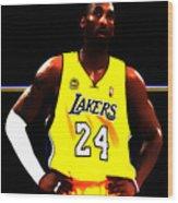 Kobe Bryant Ready For Battle Wood Print