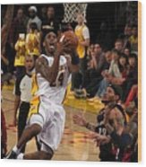 Kobe Wood Print by Marc Bittan