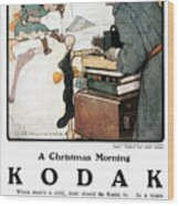 Kodak Advertisement, 1904 Wood Print