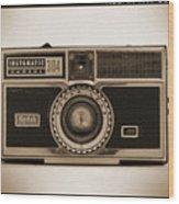 Kodak Instamatic Camera Wood Print by Mike McGlothlen