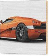 Koenigsegg Ccx Orange Wood Print