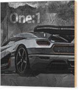 Koenigsegg One-1 Wood Print