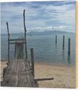 Koh Samui Pier Wood Print