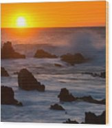 Kohala Sunset Wood Print