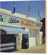 Kohrs Ice Cream Seaside Park Wood Print