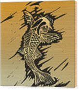 Koi 2 Wood Print by Jeff DOttavio
