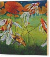 Koi Dance Wood Print