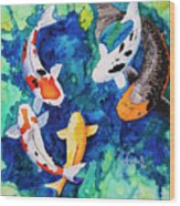 Koi Family Wood Print