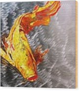 Koi Fish Aluminum Print, Unique Gift For Any Home Or Office. 'the Silver Koi'. Wood Print