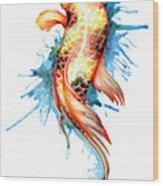 Koi Fish I Wood Print