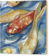 Koi Fish II Wood Print